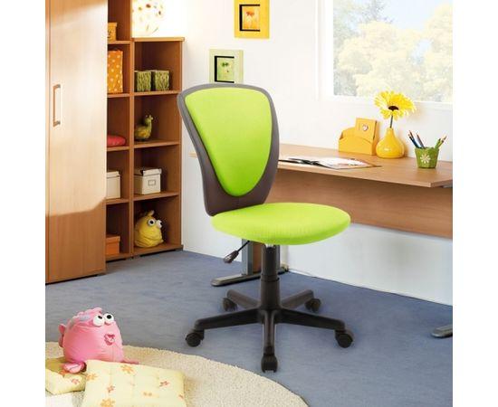 Darba krēsls BIANCA 42x51xH82-94cm, sēdeklis un atzveltne: siets / ādas aizvietotājs, krāsa: zaļa/ tumši pelēka