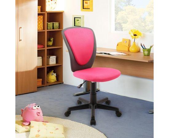 Darba krēsls BIANCA 42x51xH82-94cm, sēdeklis un atzveltne: siets / ādas aizvietotājs, krāsa: rozā/ tumši pelēka