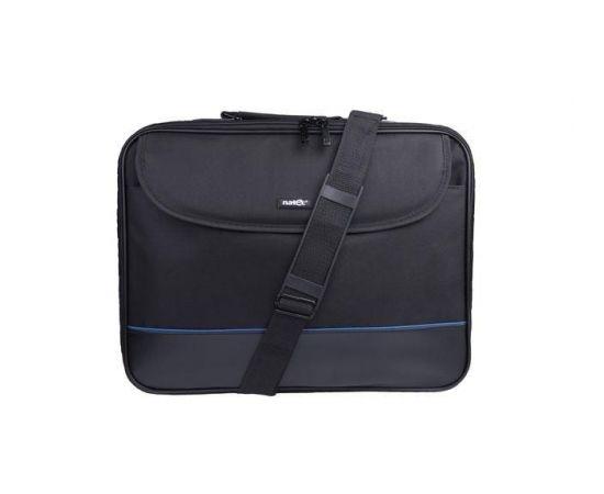 Natec Laptop Bag IMPALA Black-Blue 15,6'' (stiff shock absorbing frame)