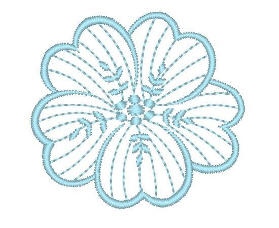 Brother Izšuvums RIŠELJĒ 94 zieds, augstums 55.50 mm, platums 60.20 mm,2046 dūrieni, 1kr