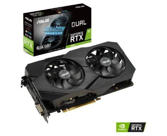Graphics Card|ASUS|NVIDIA GeForce RTX 2060|6 GB|192 bit|PCIE 3.0 16x|GDDR6|Memory 14000 MHz|GPU 1365 MHz|Dual Slot Fansink|1xDVI|2xHDMI|1xDisplayPort|DUAL-RTX2060-6G-EVO