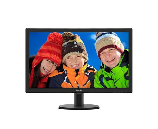 """Philips V Line 243V5LHSB5/00 23.6 """", FHD, 1920x1080 pixels, 16:9, LCD, TFT, 1 ms, 250 cd/m², Black, D-Sub cable, Power cable"""