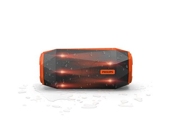 Philips SB500M Grey/Orange, 30 W, Waterproof, shockproof, Multi-colored lights, Bluetooth speaker