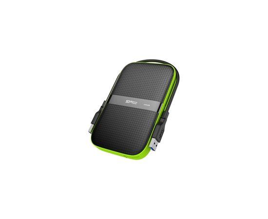 """Silicon Power Armor A60 2TB 2.5 """", USB 3.1, Black, Green"""