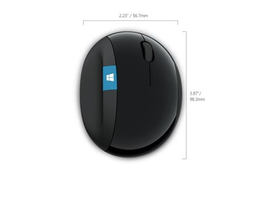 Microsoft 5LV-00002 Sculpt Ergonomic Mouse for Business Black, No