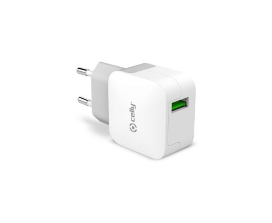 USB Travel Adapter 2.4A by Celly White