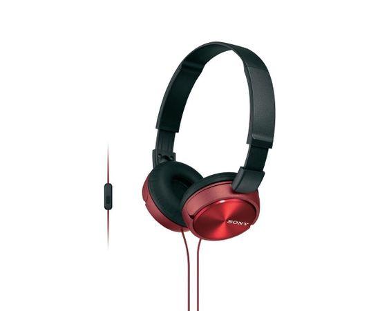 Sony MDR-ZX310AP/R Red 30mm, 98dB/mW, 24Ω, 10-24000Hz, 1.2m