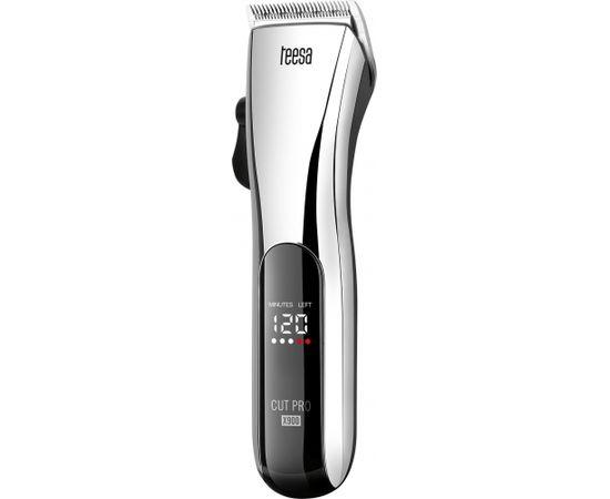 Teesa CUT PRO X900 Bezvadu matu trimmeris / 4 dažādi uzgaļi / Sudraba