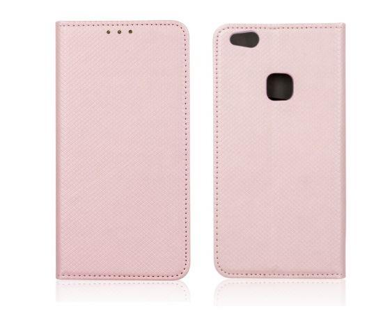 Forever Чехол-книжка с магнетической фиксацией без клипсы Xiaomi Redmi Note 4 Розово золотой