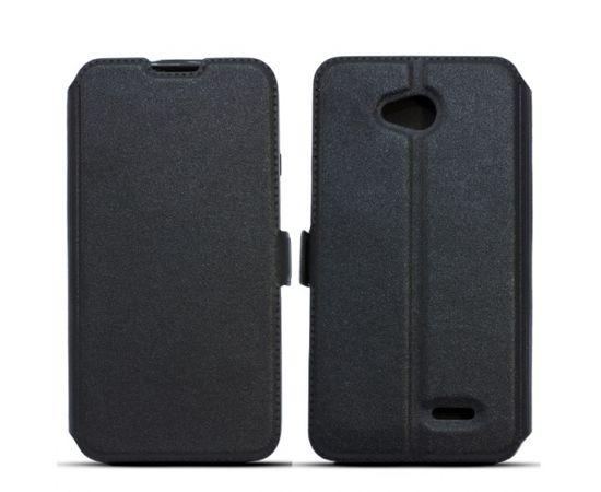 Telone Super plāns sāniski atverams maciņš ar stendu LG G6 H870 / H871 Melns