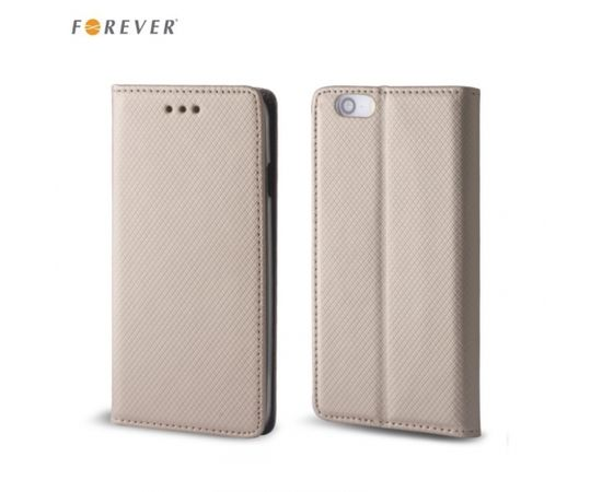 Forever Чехол-книжка с магнетической фиксацией без клипсы LG G6 H870 / H871 Золотистый