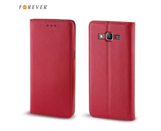 Forever Чехол-книжка с магнетической фиксацией без клипсы LG G6 H870 / H871 Красный