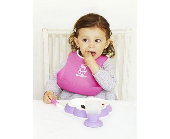 Babybjorn BABYBJÖRN bērnu šķīvis ar karoti un dakšu 2 gab Pink/Purple 074046