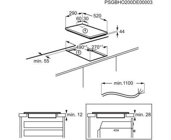 """ELECTROLUX LIT30230C """"Domino"""" Iebūvējama indukcijas plīts virsma 29cm"""
