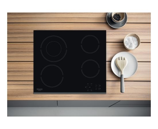 Ariston Hotpoint Hob HR 632 B Vitroceramic, Number of burners/cooking zones 4, Touch control, Timer, Black