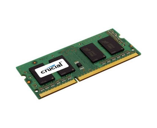 Crucial 4 GB, DDR3, 204-pin SO-DIMM, 1600 MHz, Memory voltage 1.35 V, ECC No