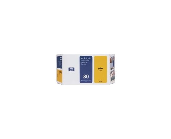 Hewlett-packard HP no.80 Ink Cart. Yellow (350ml) / C4848A