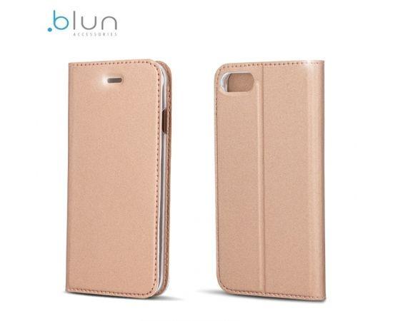 Blun Премиум матовый эко кожаный Чехол-книжка с магнетической фиксацией со стендом Xiaomi Redmi 4A Золотистый