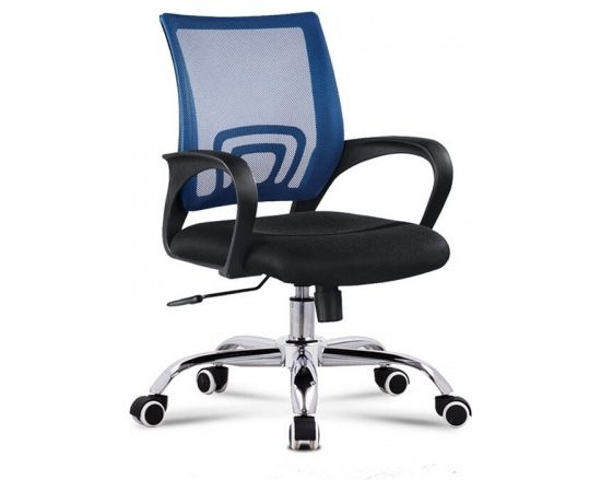 Up Up Office Chair DELI, Fixed armrest, black/blue