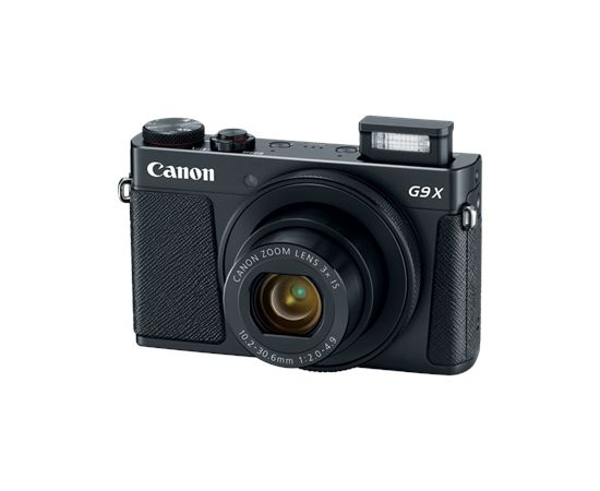 "Canon PowerShot G9 X Mark II Compact camera, 20.1 MP, Optical zoom 3 x, Digital zoom 4 x, ISO 12800, Touchscreen, Display diagonal 3 "", Wi-Fi, Focus TTL/Manual, Video recording, Battery Pack NB-13L, Black"