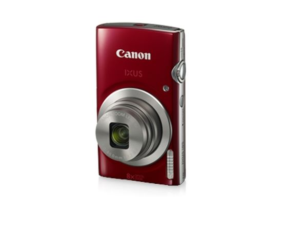 "Canon IXUS 185 Compact camera, 20 MP, Optical zoom 8 x, Digital zoom 4 x, Image stabilizer, ISO 800, Display diagonal 2.7 "", Focus TTL, Video recording, Lithium-Ion (Li-Ion), Red"