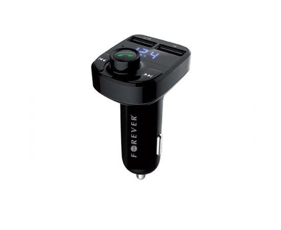 Forever TR-330 Bluetooth 4.0 FM Transmitter Ar Uzlādes Ligzdām USB 12 / 24V | 3.1A + 1A Melns
