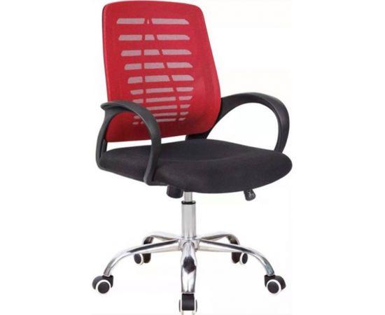 Pagriežams biroja krēsls VANGALOO DM8101, sarkans/melns