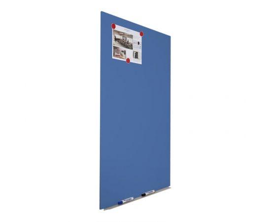 Magnētiskā tāfele ROCADA Skin Color, 100 x 150 cm, lakota virsma, zilā krāsa