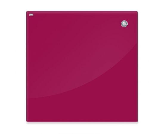 Magnētiskā stikla tāfele 2x3 45 x 45 cm, sarkana (TSZ4545 R)