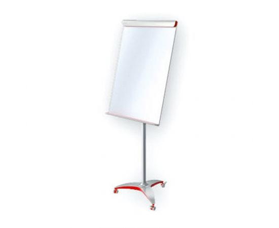 Tāfele ar statīvu 2x3 Mobilechart Red, 100 x 70 cm