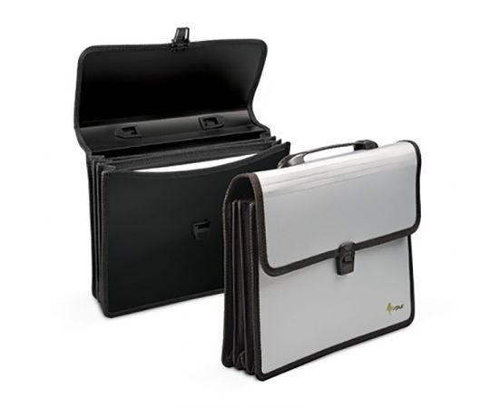 Mape-portfelis ar 3 nodalījumiem A4, sudraba krāsā
