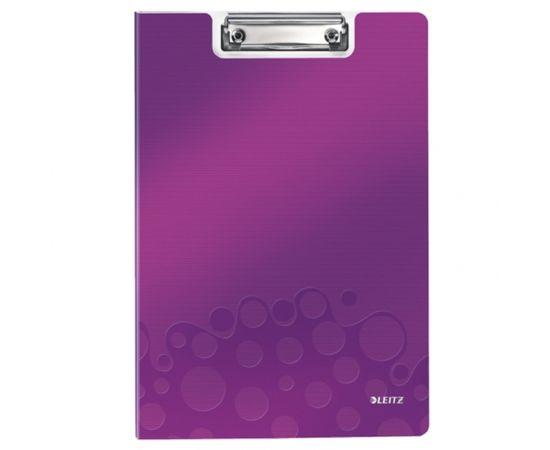 Esselte Mape-planšete LEITZ WOW ar vāku, A4 formāts, violeta krāsā