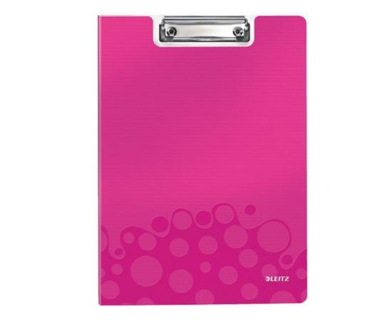 Esselte Mape-planšete LEITZ WOW ar vāku, A4 formāts, rozā krāsā