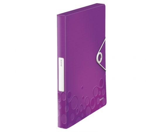 Esselte Mape ar gumiju Leitz WOW, A4, 30mm, violeta krāsā