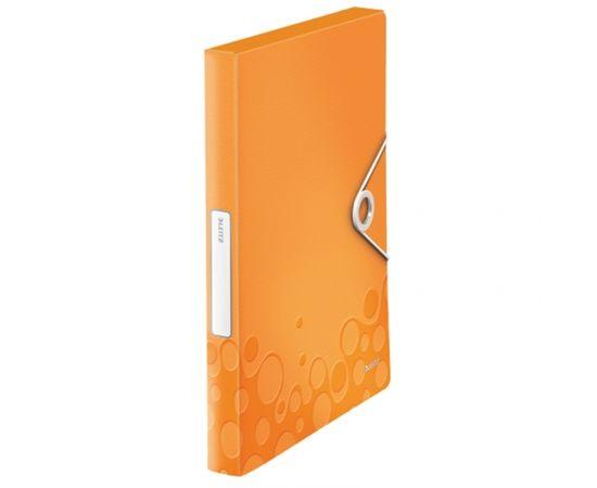 Esselte Mape ar gumiju Leitz WOW, A4, 30mm, oranžā krāsā