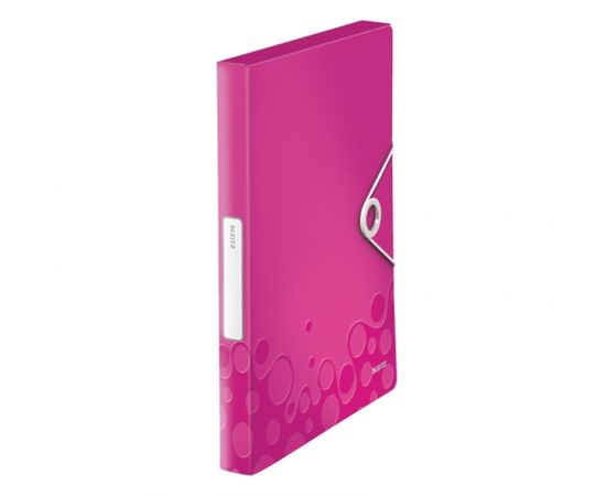 Esselte Mape ar gumiju Leitz WOW, A4, 30mm, rozā krāsā