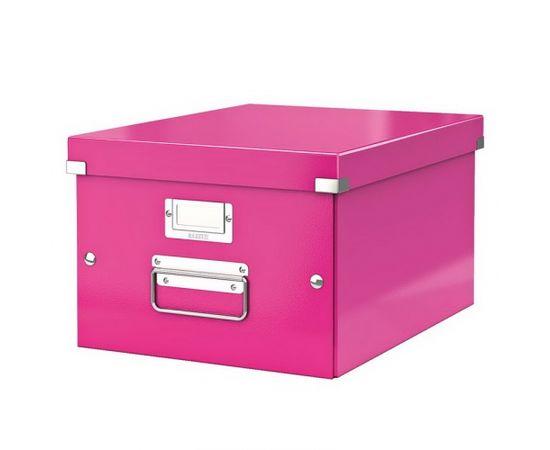 Esselte Arhīva kārba LEITZ CLICK'N'STORE WOW, A4, rozā krāsa