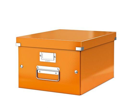 Esselte Arhīva kārba LEITZ CLICK'N'STORE WOW, A4, oranžā krāsa