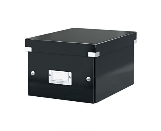 Esselte Arhīva kārba saliekama Leitz Click & Store, large, kartona, melna
