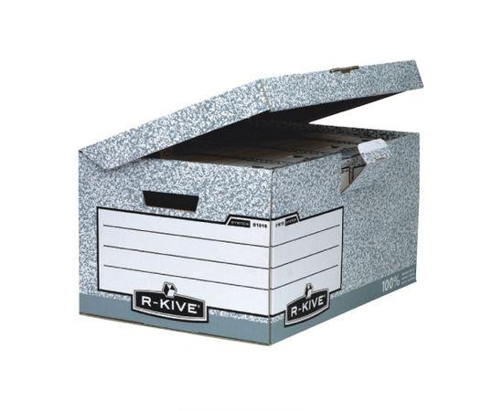 Konteiners FELLOWES arhīvu kārbām ar izmēru 378x287x545mm, pelēkbalta