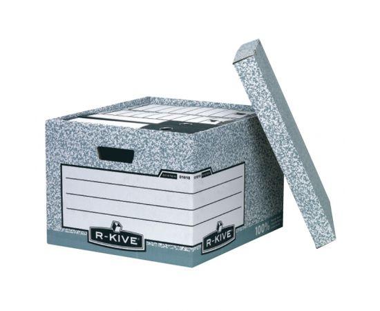 Konteiners FELLOWES arhīvu kārbām ar izmēru 380x287x430mm, pelēkbalta