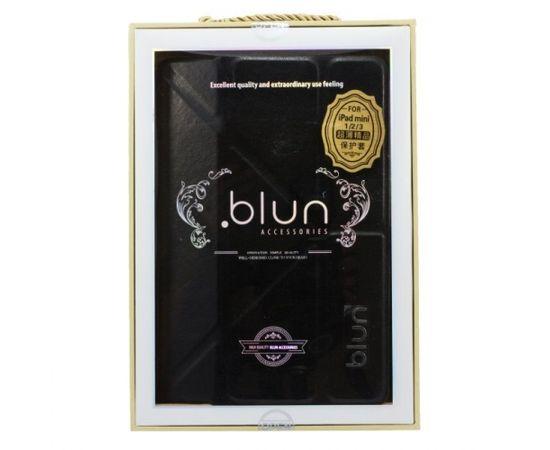 Blun MHS Eko ādas sāniski atverams maks ar stendu Samsung T230 Galaxy Tab 4 7.0 Melns