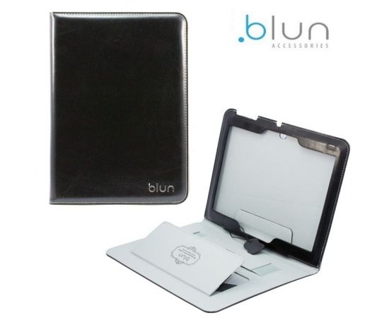 Blun TXP Eko ādas sāniski atverams maks ar stendu Samsung T230 Galaxy Tab 4 7.0 Melns